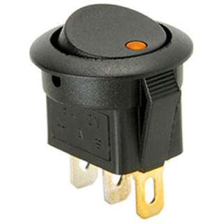 ROCKER SWITCH LIT 1P1T ON-OFF 16A 12VDC 20MM ORANGE