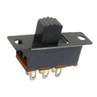 SLIDE SWITCH 2P2T ON-ON SOL 6A/125VAC