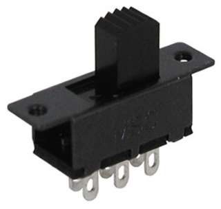 SLIDE SWITCH 2P2T ON-ON SOL CHMT 500MA/30VDC 7.4X15.5MM