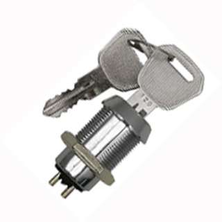KEYLOCK SWITCH 1P1T ON-OFF 18MM 4A/125VAC (WITH 2 KEYS)