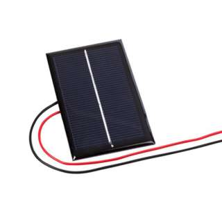 SOLAR CELL .5V 800MA 1.8X2.8IN WITH WIRE