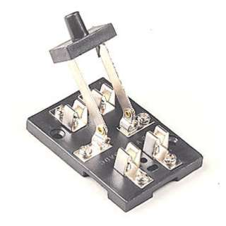 KNIFE SWITCH 2P2T WITH POSTS BASE 2.4X1.7X2.4IN