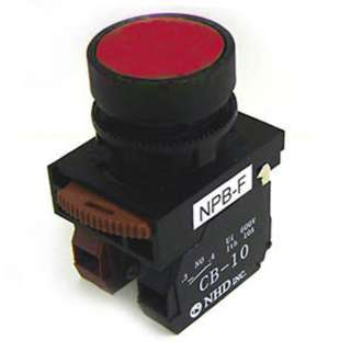 PUSH SWITCH INDUSTRIAL NO/NC RED