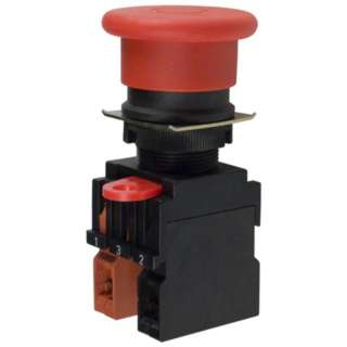 EMERGENCY PUSH SWITCH 10A 600VAC NC TWIST RESET RED CAP