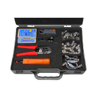 CRIMPING TOOL KIT W/LAN TESTER RJ12/RJ45 CRIMPER/STRIPPER/PLUGS