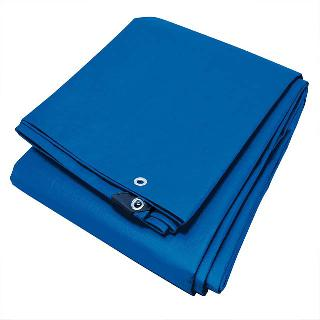 TARP WOVEN POLYETHYLENE 4.67FT X 6.67FT BLUE