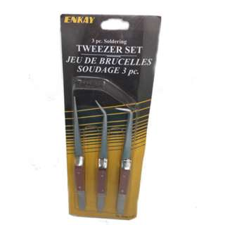 TWEEZER METAL 6IN 3PC SET SELF CLOSING