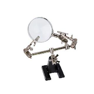 HELPING HAND W/MAGNIFYING GLASS 1.5X MAGNIFICATION