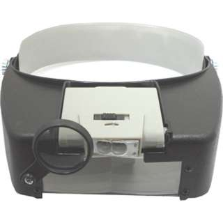 MAGNIFIER HEAD VISOR MULTI POWER DUAL LENS DUAL LED LIT 1.9X 4.5X