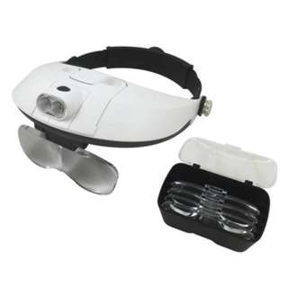 MAGNIFIER HEAD VISOR MULTI POWER LED LIGHT 11 LEVEL MAGNIFICATION