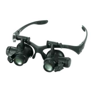 MAGNIFIER EYEWEAR LED LIGHTED W/4 LENSES 10X 15X 20X 25X