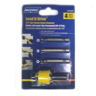 CHUCK 1/4IN WORK FOR 3/8 & 1/2IN DRIVE DRILL W/DRILL BITS 4PC/SET