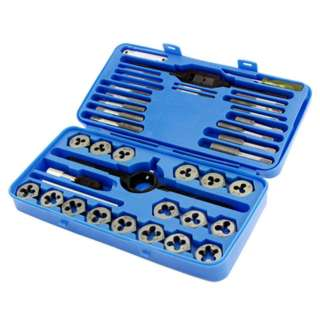 TAP AND DIE SET SAE 40PCS/SET COMINATION OF NC/NF & PT THREADS