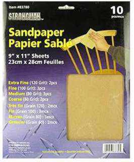 SANDPAPER 8PCS/PACK ASSORTED EXTRA FINE/FINE/MEDIUM/COARSE