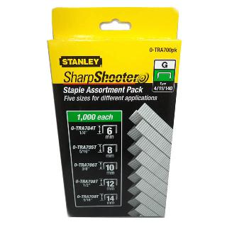 STAPLES ASSORTED 6 8 10 12 14MM 1000PCS EACH