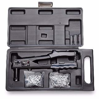 RIVET GUN TOOL KIT 3MM & 5MM RIVETS 25PCS EACH W/PLASTIC CASE