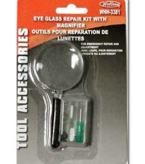 EYEGLASS REPAIR KIT W/MAGNIFIER 