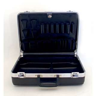 TOOL CASE EMPTY 18.5X14.2X7INCH PLAS BLACK WITH B & C PALLETS