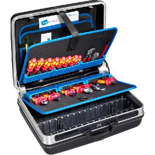 TOOL CASE EMPTY 19X14.5X7IN PLASTIC 23 TOOLS POCKETS BLACK