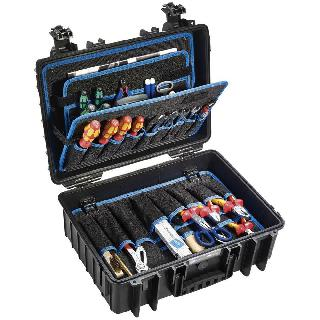 TOOL CASE EMPTY 17X13.75X6.5 INCH WATERTIGHT CASE BLK