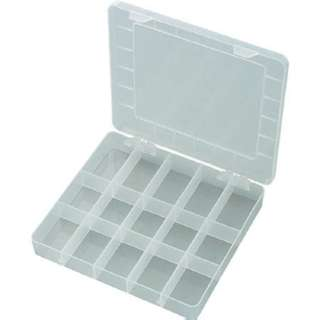 COMPONENT BOX 11X7X2IN CLEAR 15 ADJUSTABLE COMPARTMENTS