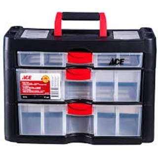 STORAGE CABINET 3 DRAWERS PLAST 16 X 11 X 8 INCH