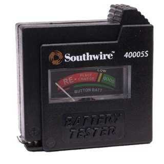 BATTERY TESTER FOR AA/AAA/C/D/ BUTTON/9V BATTERIES UNDER LOAD
