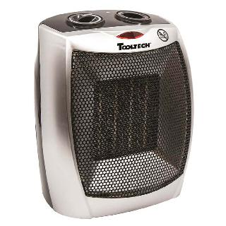 HEATER CERAMIC WITH THERMOSTAT 750-1500W 2 SETTINGS 120VAC