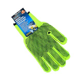 GLOVES ANTI-SLIP KNITTED COTTON POLYESTER REFLECTIVE