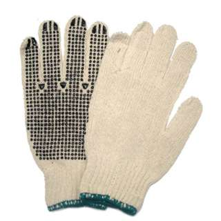 GLOVES ANTI-SLIP KNITTED LARGE POLY COTTON