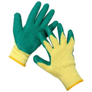 GLOVES PLAIN KNITTED WITH RUBBER LATEX COATING WASHABLE
