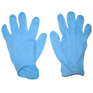 GLOVES NITRILE BLUE LARGE DISPOSABLE POWDER FREE