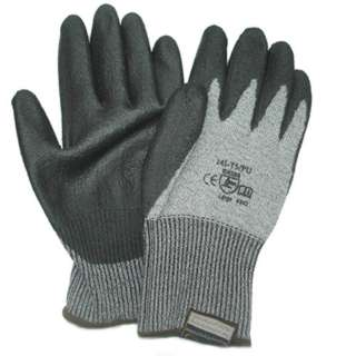 GLOVES CUT RESISTANT LARGE GRY EN388 CUT LEVEL OF 5