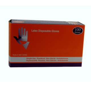 GLOVES LATEX INDUSTRIAL/FOOD GRADE POWDERED DISPOSABL CLR LRG