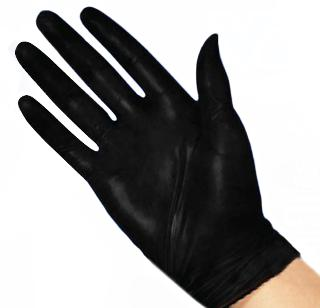 GLOVES NITRILE BLACK MEDIUM DISPOSABLE POWDER FREE