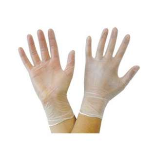 GLOVES VINYL LARGE CLEAR POWDER FREE SINGLE USE ONLY