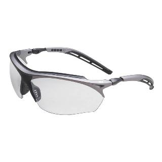 SAFETY GLASS GREY FRAME W/CLEAR ACCENTS ANTI-FOG