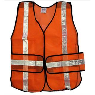 SAFETY VEST REFLECTIVE ORANGE OSFA SIZE