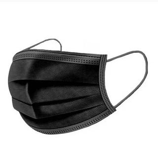 FACE MASK DISPOSABLE W/EAR LOOP BLACK