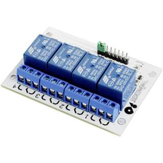 RELAY MODULE 4 CHANNEL INTERFACE BOARD FOR HIGH CURRENT IP:5-12VD