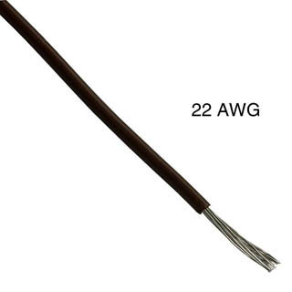WIRE STRANDED 22AWG 100FT BROWN TC PVC
