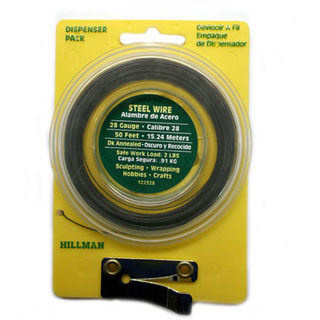 STEEL WIRE 28AWG 50FT DISPENSER PACK SAFE WORK LOAD 2LBS