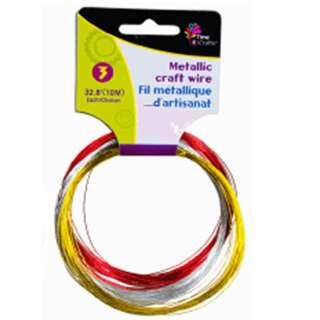 STEEL WIRE 32FT EACH 3PCS/PACK ASSORTED COLORS