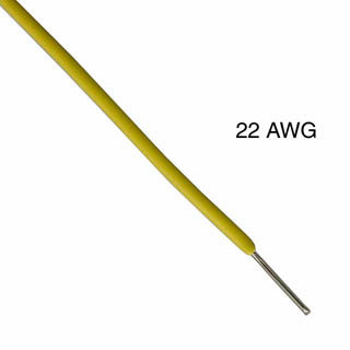 WIRE SOLID 22AWG 25FT YELLOW 