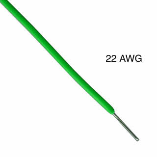 WIRE SOLID 22AWG 25FT GREEN TR64 TC