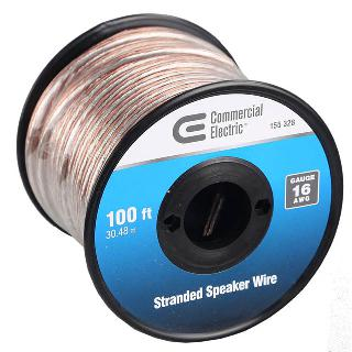 SPEAKER WIRE AWG 16 STD 100FT 