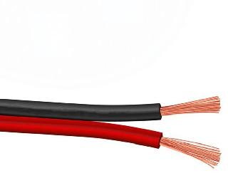 SPEAKER WIRE AWG 14 STD 500FT BLK/RED