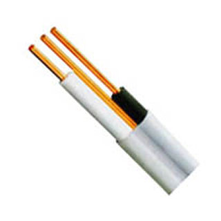 CABLE ELECTRIC 2C/14 20M WHT HOUSEHOLD SOLID FOR DRY LOCATION