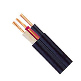 CABLE ELECTRIC 2C/12 75M BURIAL BLK HOUSEHOLD SOLID WET LOCATION