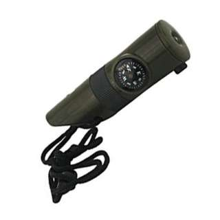 WHISTLE WITH COMPASS KIT 7-IN-1 LED/THERMOMETER/MIRROR/MAGNIFIER